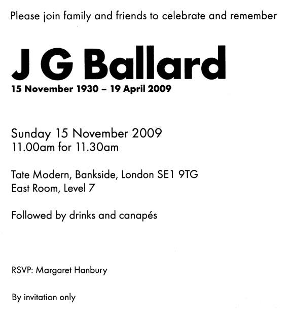 Ballardian: JG Ballard Memorial