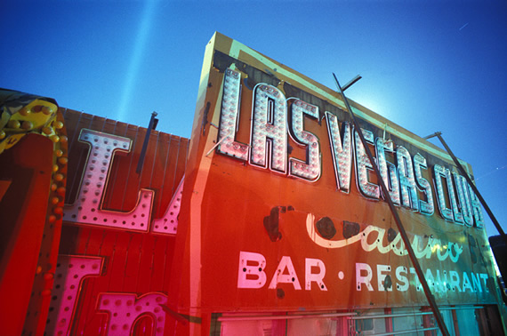 las vegas sign graveyard. ABOVE: #39;Las Vegas Club#39; by