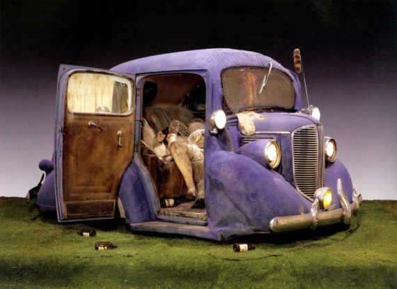 Sculpture by Kienholz - 'Back Seat Dodge '38'