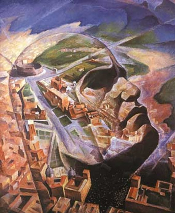 The Futurist dream as represented by Ambrosini's 'Mussolini the Aviator'